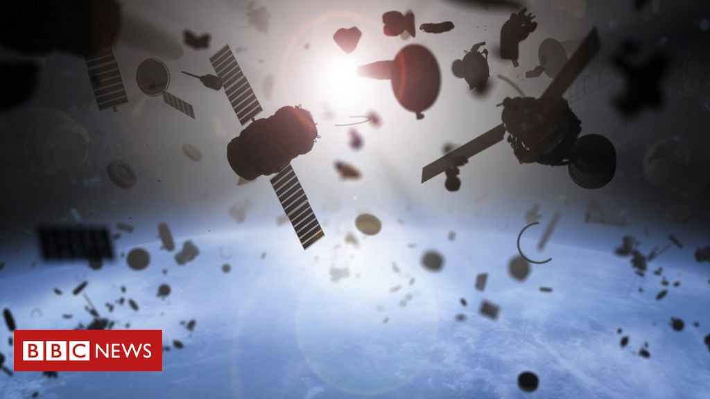 Pieces of orbiting space junk 'avoid collision'